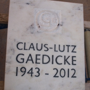 Grabstein aus Marmor für Bildhauer