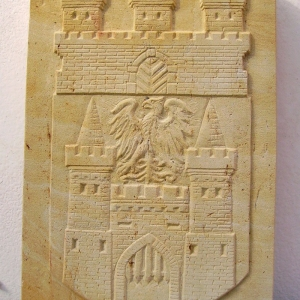 Relief des Stadtwappens von Biesenthal
