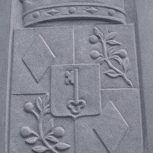 Relief eines Freiherr Wappens für die Kirche in Altlandsberg bei Berlin