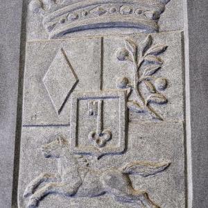 Relief eines Graf Wappens für die Kirche in Altlandsberg bei Berlin