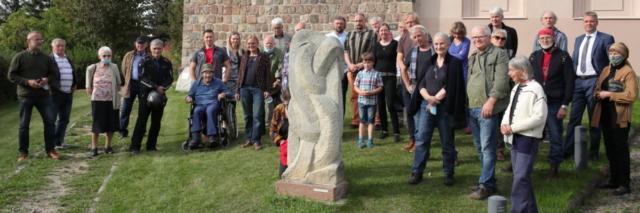 16 BildhauerInnen Skulpturenführung durch Biesenthal am 19.09.2020